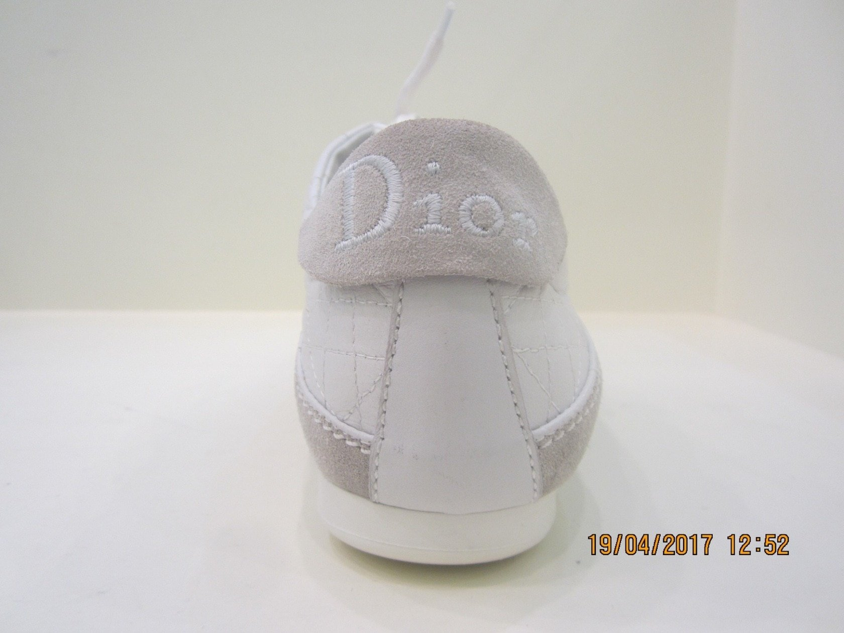 Christian Dior shoes white leather size 40