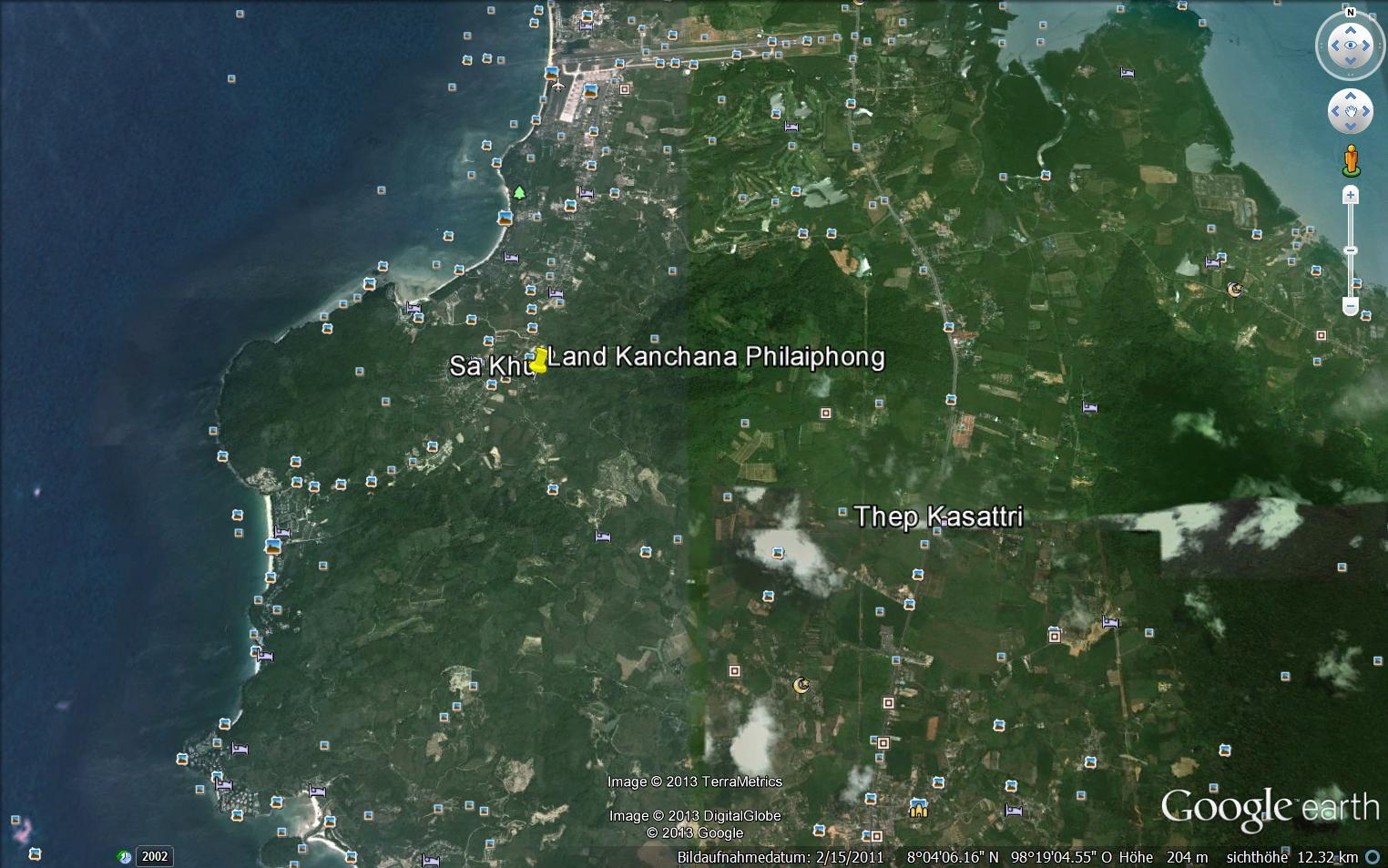 Land for Sale in Phuket-Sakhu, 1 to 5 Rai, Chanote title, 2,6 mill. Baht