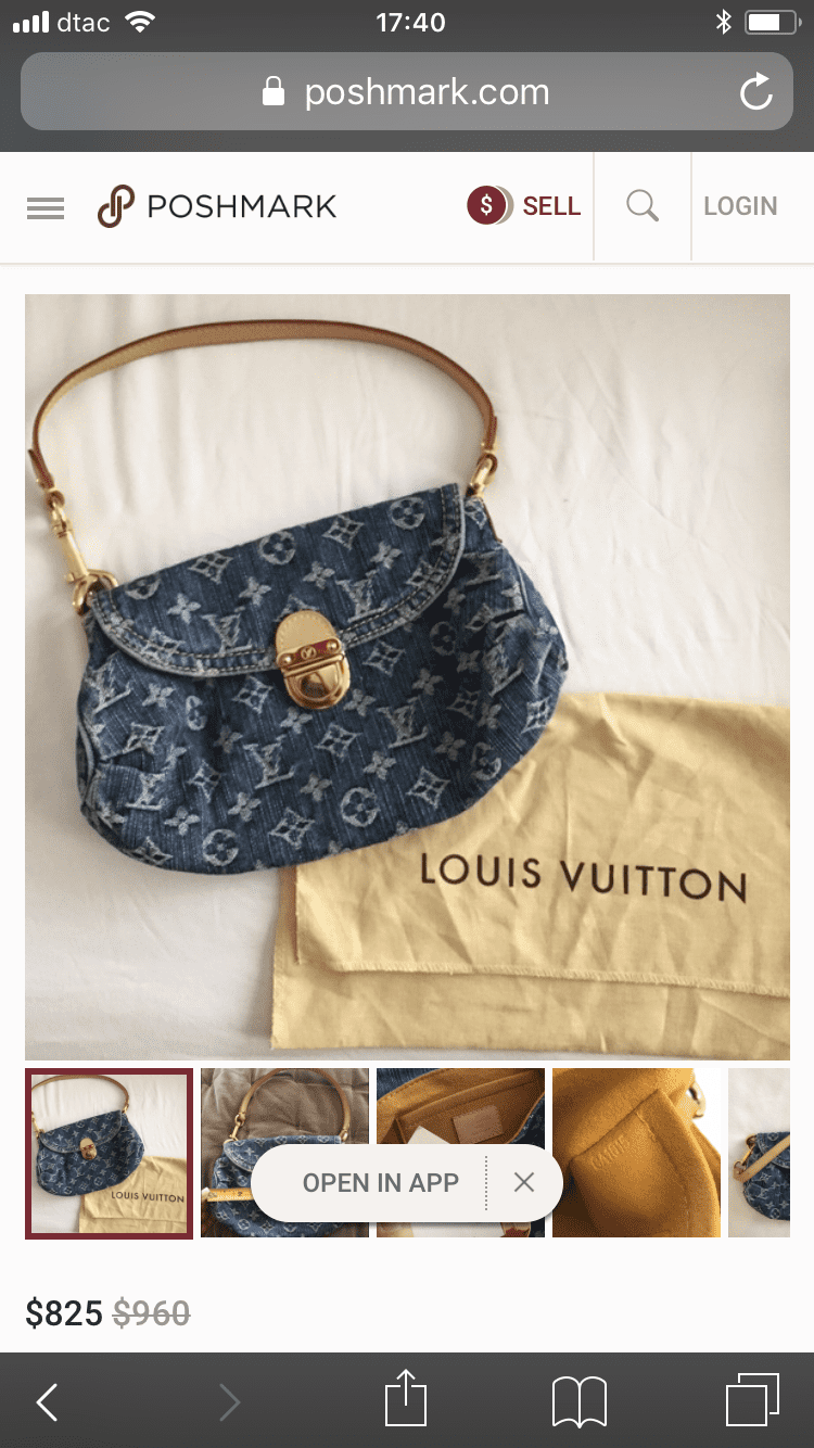 Louis Vuitton Blue Monogram Denim Pleaty