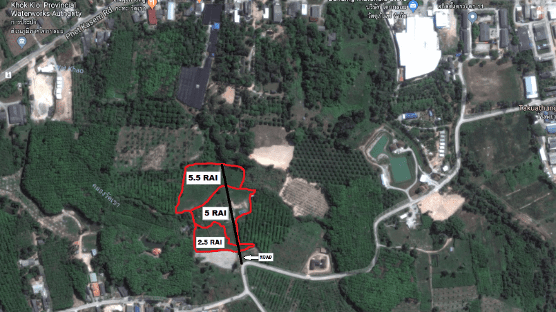 3 Mountain View Lots Only 3.5 KM From Natai Beach & 1.5 KM to Khok Kloi great for Eco-Resort or housing development.