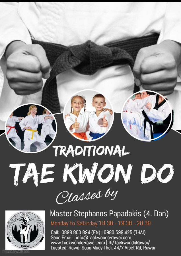 Daily Tae Kwon Do Classes in Rawai Phuket