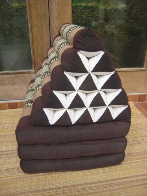 New, 2 extra large 3 fold triangle cushions