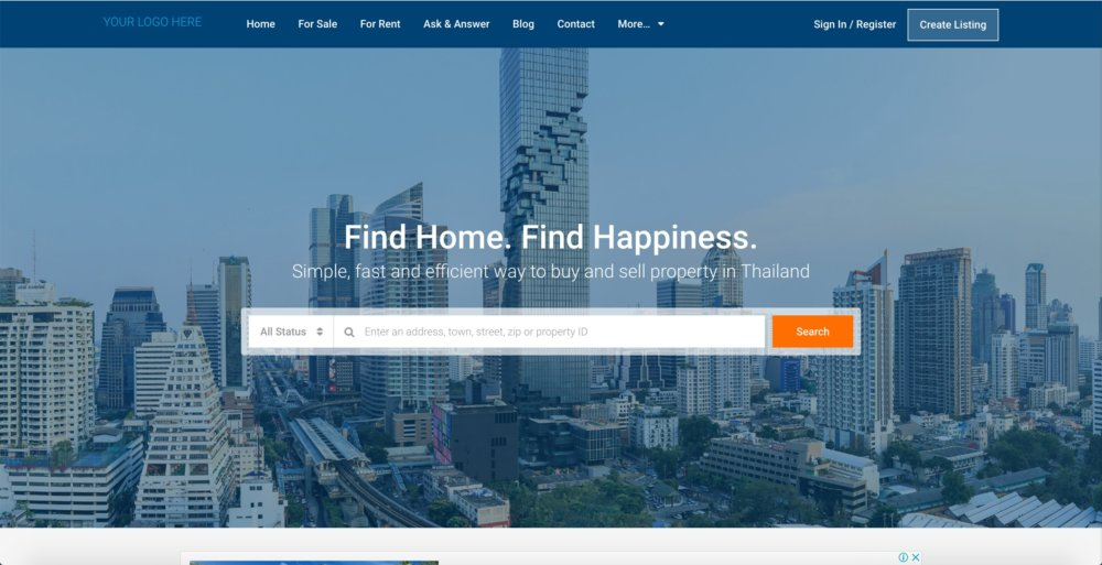 Professional Real Estate Web Design / development Services (Bangkok)