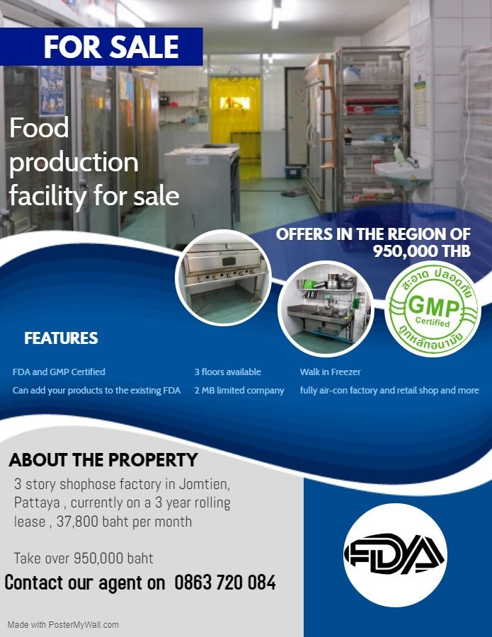 Food Production Facility for Sale