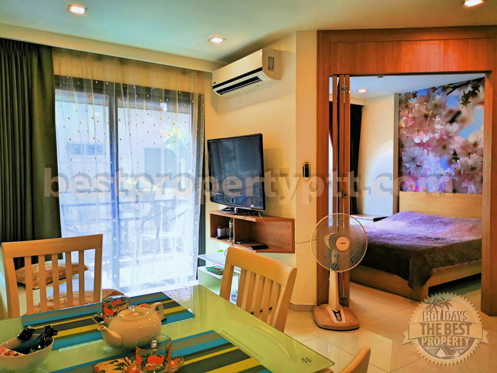 1-bedroom Condo in City garden Pratumnak
