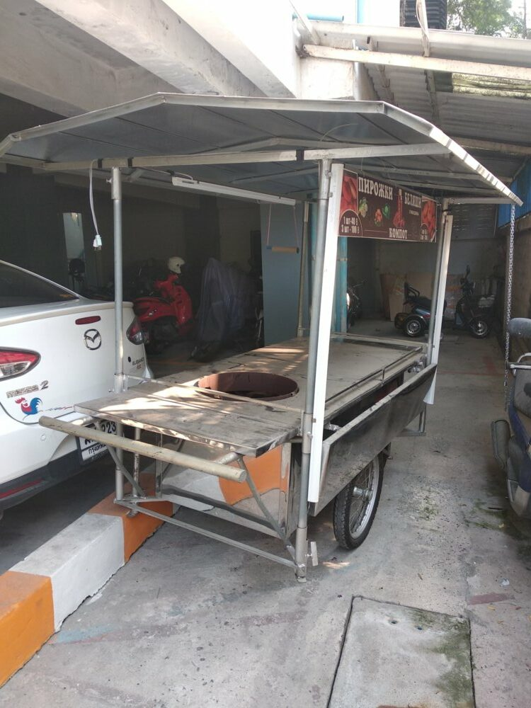 Grocery cart for cooking and sale food !