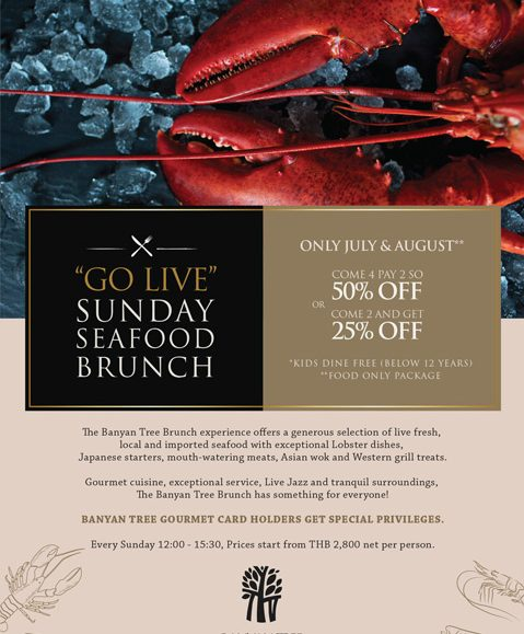 Go Live Sunday Seafood Brunch – Only July and August