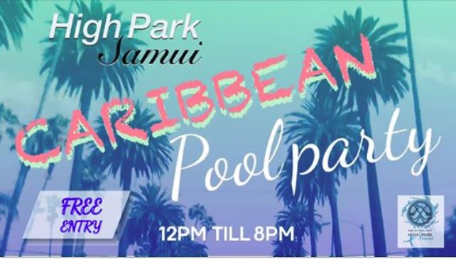 High Park Samui Caribbean Pool Party