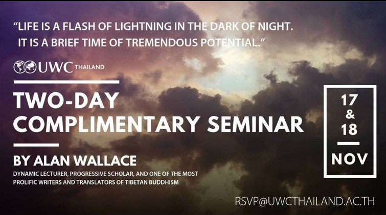 Alan Wallace to Give Free 2-Day Seminar at UWCT