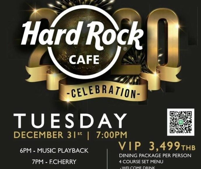 Party like ROCK STAR on New Year's Eve at Hard Rock Cafe Phuket