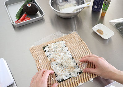 Inside-Out Sushi Rolls Making from Tokyo