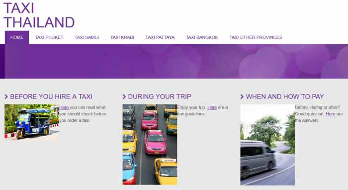 Taxi finder site seeks to improve user experience | The Thaiger