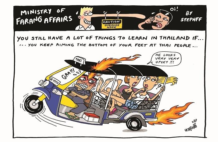 Ministry of Farang Affairs: Aiming your feet at Thais   The Thaiger