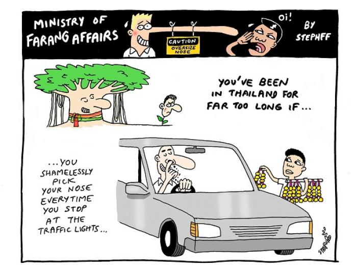 Ministry of Farang Affairs: Shamelessly picking your nose | The Thaiger