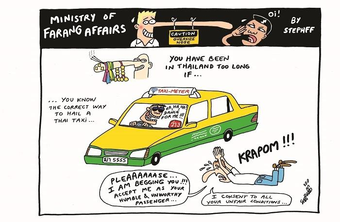 Ministry of Farang Affairs: Right way to hail a taxi | The Thaiger