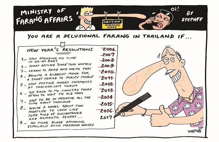 Ministry of Farang Affairs: New Year's Resolutions | The Thaiger
