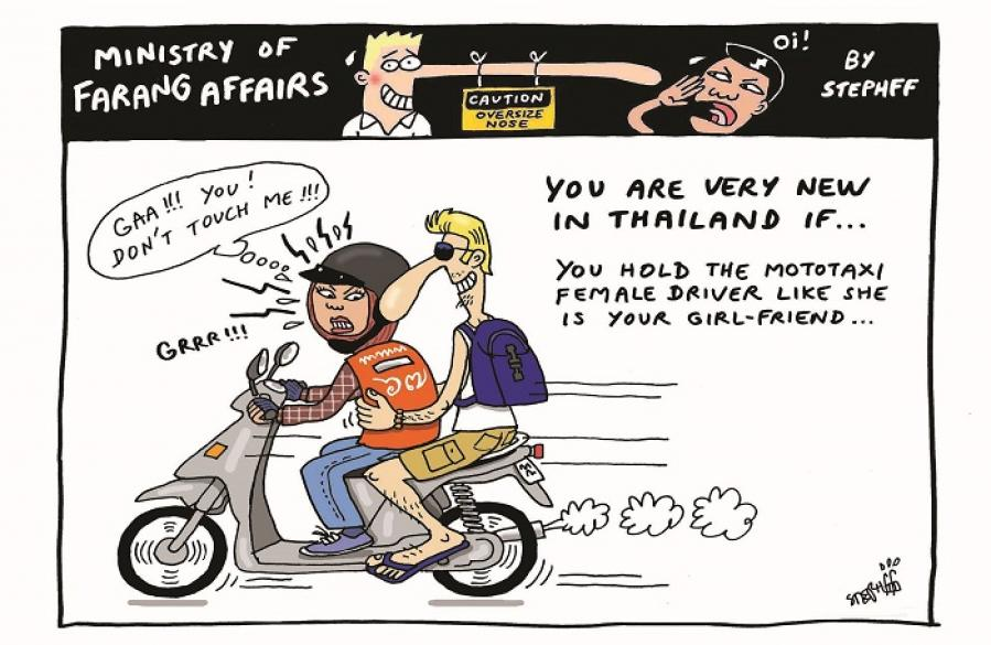 Ministry of Farang Affairs: Holding the mototaxi lady | The Thaiger