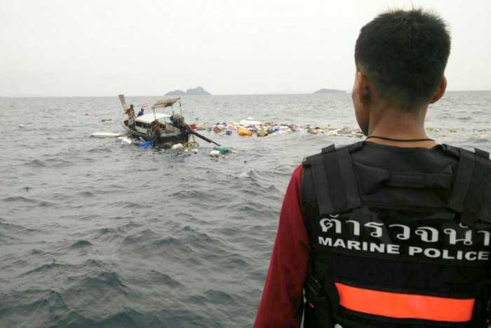 Cargo boat sinks off Phi Phi, crewman believed drowned | The Thaiger