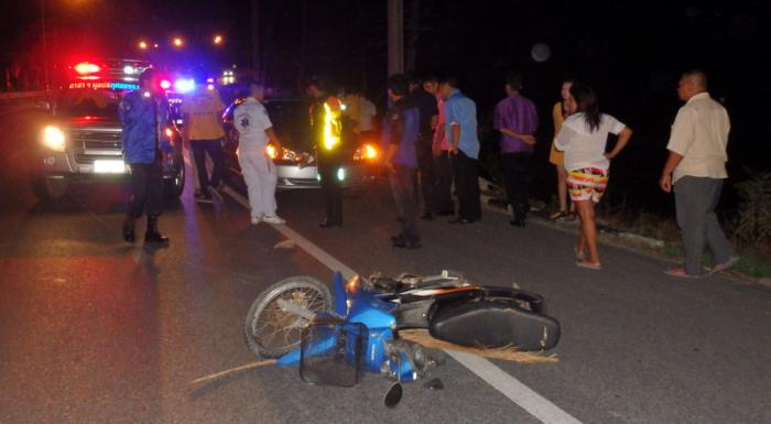 Phuket motorcyclist struck and killed picking up his bike after spill   Thaiger