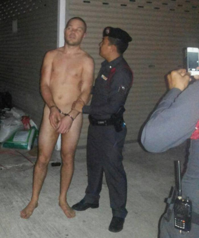 Naked Man Seen Carrying Own Hand After Escaping Abduction As Shocked Neighbours Watch Him Flee Home