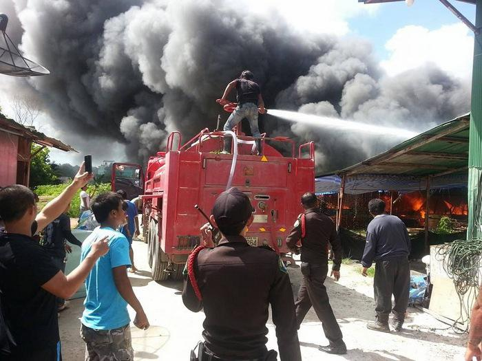 Fire ravages Phuket workers' camp | Thaiger