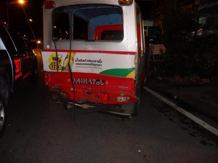 Phuket Tourist Police in fender bender on slippery road   Thaiger