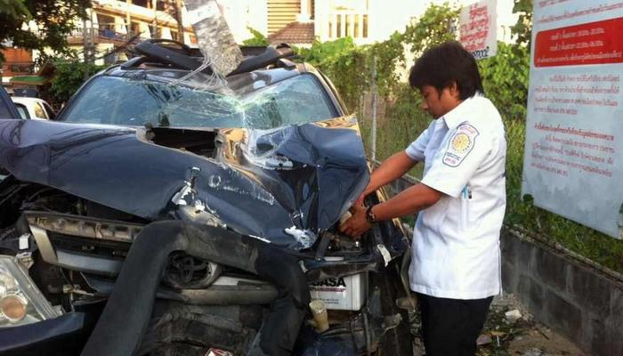 Fast and Furious: Patong joy ride in boss' car ends in crash | Thaiger