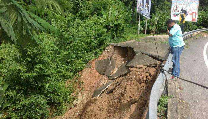 Land slip near Patong Hill Road, expected rainfall bring warnings from officials | Thaiger
