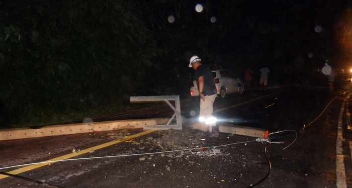 Heavy weather continues: Two Phuket drivers escape injury as wind levels trees | Thaiger