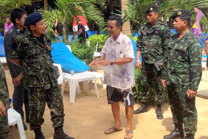 """Military moves to """"iron fist, velvet glove' for clearing Phuket beaches 