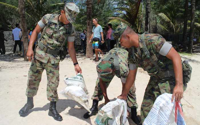 Optimism rules Phuket beach after clear out, cleanup | Thaiger