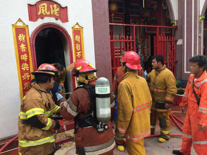 Fire at Chinese shrine in Phuket Town   The Thaiger