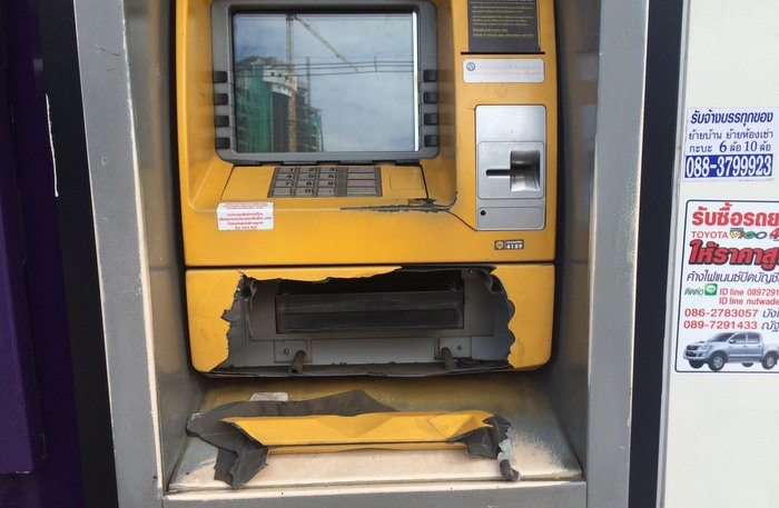 Mentally unstable man attacks Phuket ATM | The Thaiger