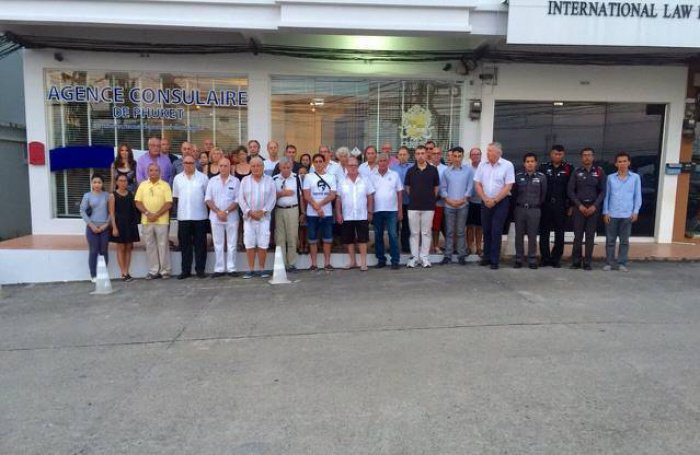 Moment of silence observed at Phuket French Consulate | The Thaiger