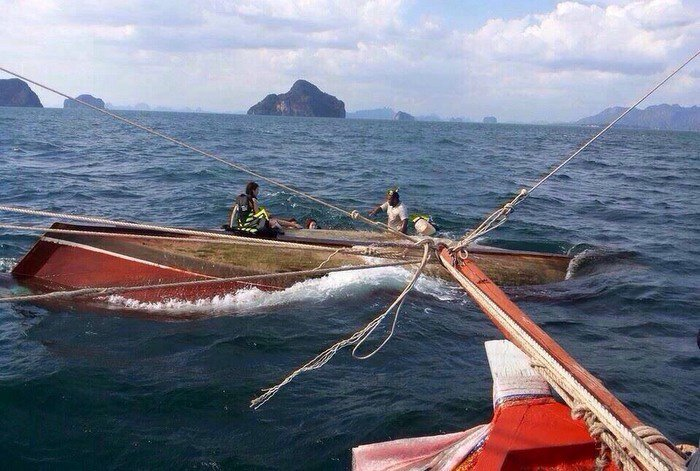 Domestic tourist safe after longtail boat capsizes in Krabi | Thaiger
