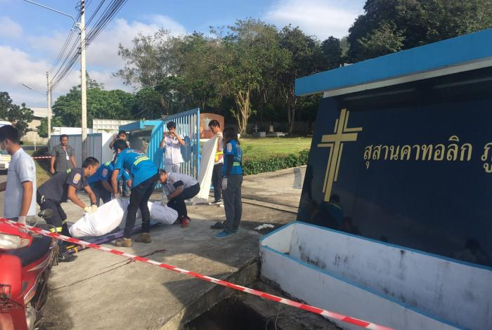 Man crushed to death at Phuket graveyard | The Thaiger