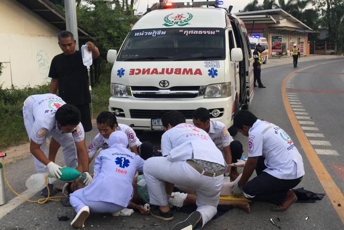 Crash victim impaled in grisly Phuket collision, one critical in ICU | The Thaiger