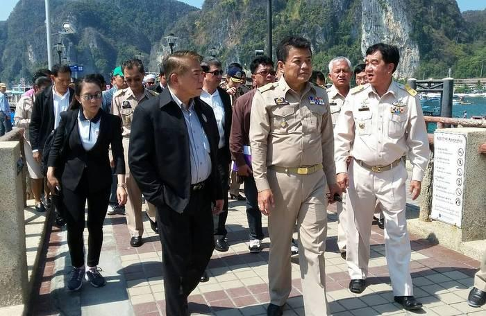 Deputy PM dives into Phi Phi's wastewater woes   The Thaiger
