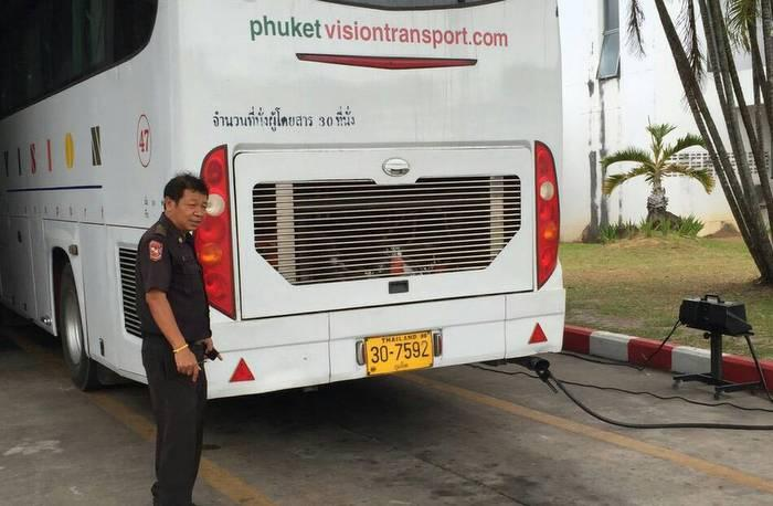PLTO bans bus bellowing pollution in Phuket   The Thaiger