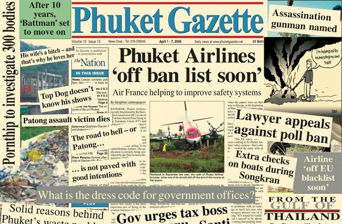 A Decade Ago: Airline safety no April fools joke   The Thaiger