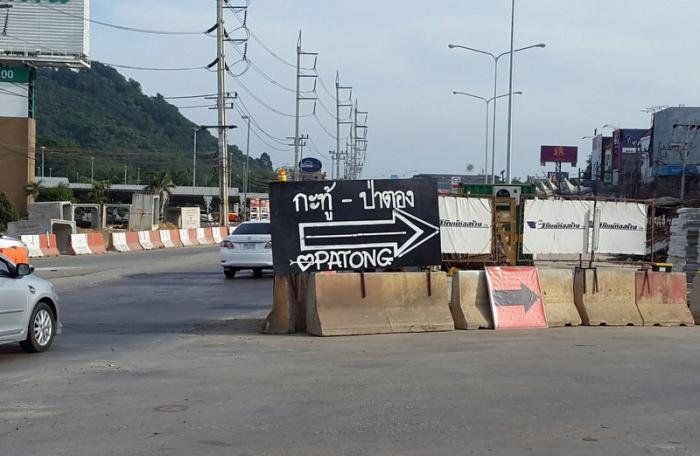 New diversions in place at Samkong intersection | The Thaiger