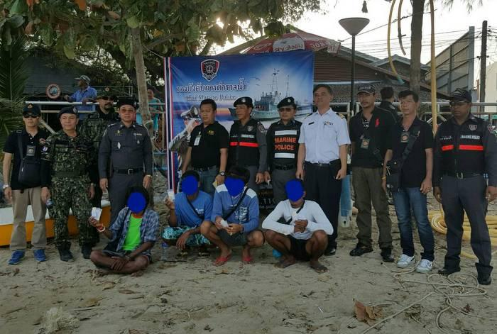 Boat crew members nabbed for suspected drug use | The Thaiger