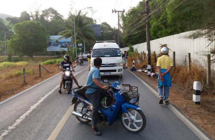 Power pole collision kills rider in Cherng Talay   The Thaiger