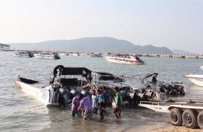 Police suspect arson in Phuket speedboat blaze   The Thaiger