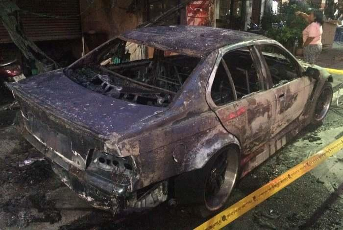 Intoxicated man burns BMW | The Thaiger