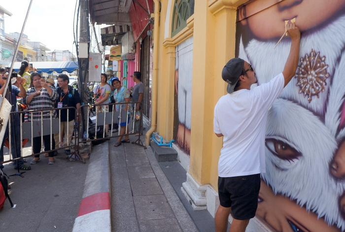 Video report: Removal of controversial Phuket Town mural begins | The Thaiger