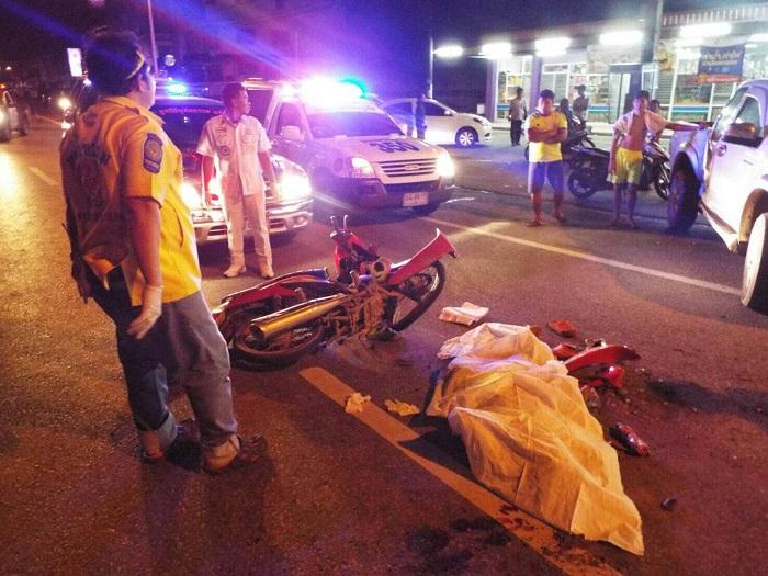 Motorcycle rider killed in collision with U-turning pick-up | The Thaiger