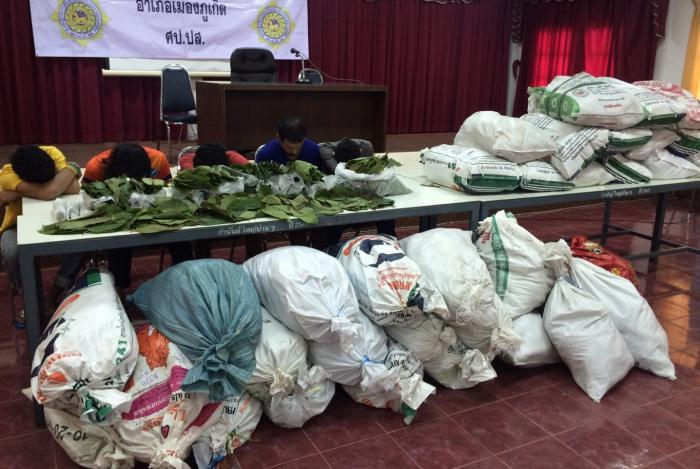 Five arrested with 400kg of kratom | The Thaiger