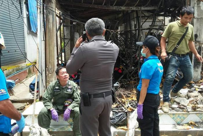 Police recover bomb remnants from scene of Krabi fire | The Thaiger