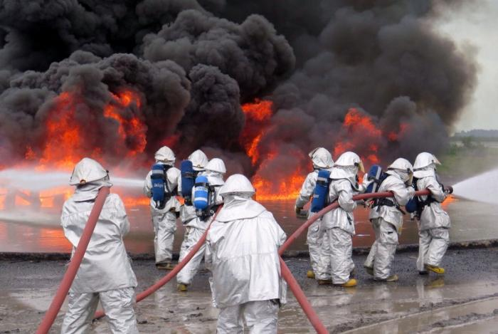 Emergency crews battle airport fires during drill | The Thaiger